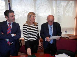 Ana Mª Jáuregui Ramírez toma posesión de su cargo como vocal del COGITI, el pasado 4 de marzo.